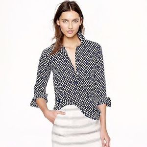 J.Crew Popover in Navy Flower Bud